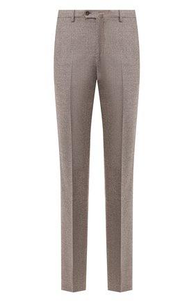Мужской шерстяные брюки LORO PIANA коричневого цвета, арт. FAI8674 | Фото 1