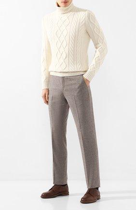 Мужской шерстяные брюки LORO PIANA коричневого цвета, арт. FAI8674 | Фото 2