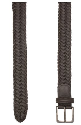 Мужской кожаный ремень LORO PIANA темно-коричневого цвета, арт. FAI5647 | Фото 2