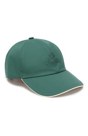 Мужской бейсболка LORO PIANA зеленого цвета, арт. FAB1977 | Фото 1
