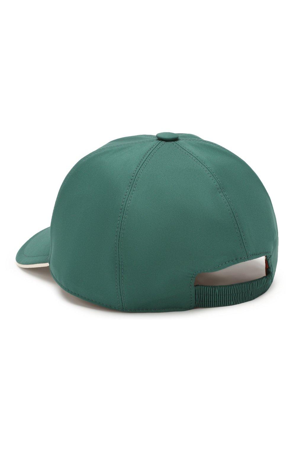 Мужской бейсболка LORO PIANA зеленого цвета, арт. FAB1977 | Фото 2