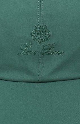 Мужской бейсболка LORO PIANA зеленого цвета, арт. FAB1977 | Фото 3