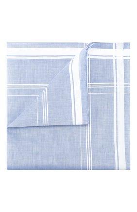 Мужской хлопковый платок SIMONNOT-GODARD голубого цвета, арт. SARABANDE | Фото 1