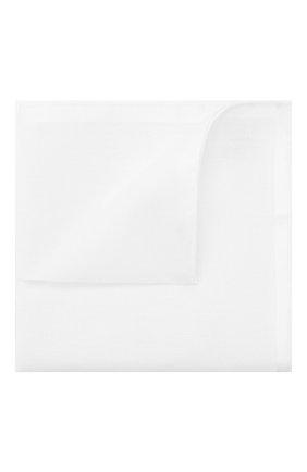Мужской платок из смеси хлопка и льна SIMONNOT-GODARD белого цвета, арт. AMALFI/50LINEN | Фото 1