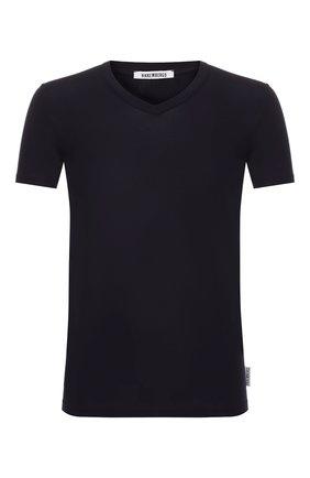 Мужские хлопковая футболка DIRK BIKKEMBERGS темно-синего цвета, арт. VBKT04090 | Фото 1