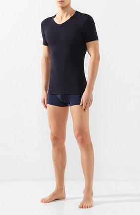 Мужские хлопковая футболка DIRK BIKKEMBERGS темно-синего цвета, арт. VBKT04090 | Фото 2