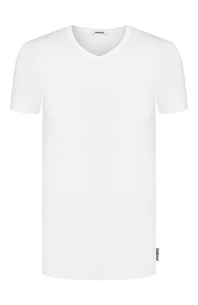 Мужские хлопковая футболка DIRK BIKKEMBERGS белого цвета, арт. VBKT04090 | Фото 1