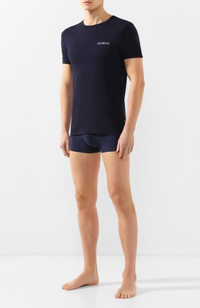 Мужские комплект из двух футболок DIRK BIKKEMBERGS темно-синего цвета, арт. VBKT04086 | Фото 2