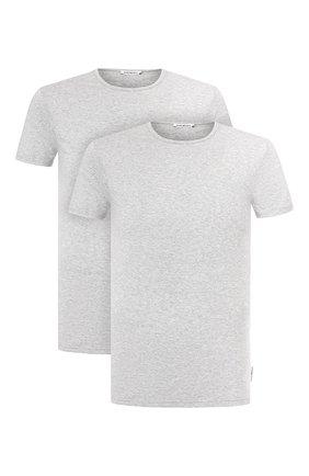 Мужские комплект из двух футболок DIRK BIKKEMBERGS серого цвета, арт. VBKT04086 | Фото 1