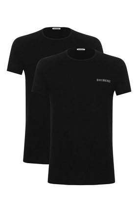 Мужские комплект из двух футболок DIRK BIKKEMBERGS черного цвета, арт. VBKT04086 | Фото 1