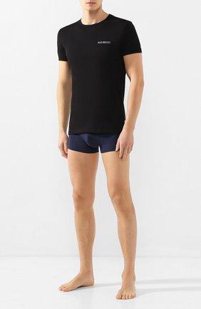 Мужские комплект из двух футболок DIRK BIKKEMBERGS черного цвета, арт. VBKT04086 | Фото 2