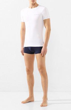 Мужские комплект из двух футболок DIRK BIKKEMBERGS белого цвета, арт. VBKT04086 | Фото 2