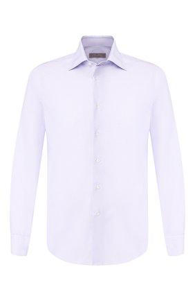Мужская хлопковая сорочка CANALI сиреневого цвета, арт. X05/GA01859/S | Фото 1