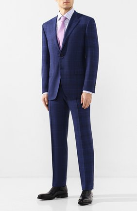 Мужская хлопковая сорочка CANALI голубого цвета, арт. NX05/GR01843/S | Фото 2