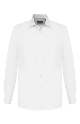 Мужская хлопковая сорочка CANALI белого цвета, арт. N705/GR01839/S | Фото 1