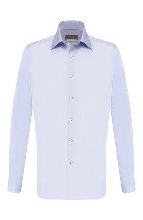 Мужская хлопковая сорочка CANALI голубого цвета, арт. N705/GR01586/S | Фото 1