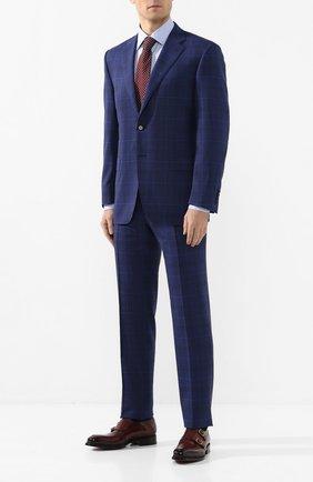 Мужская хлопковая сорочка CANALI голубого цвета, арт. N705/GR01586/S | Фото 2