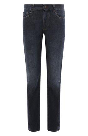 Мужские джинсы CANALI темно-синего цвета, арт. 91700/PD00250 | Фото 1