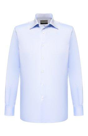 Мужская хлопковая сорочка CANALI голубого цвета, арт. 7705/GF01855 | Фото 1