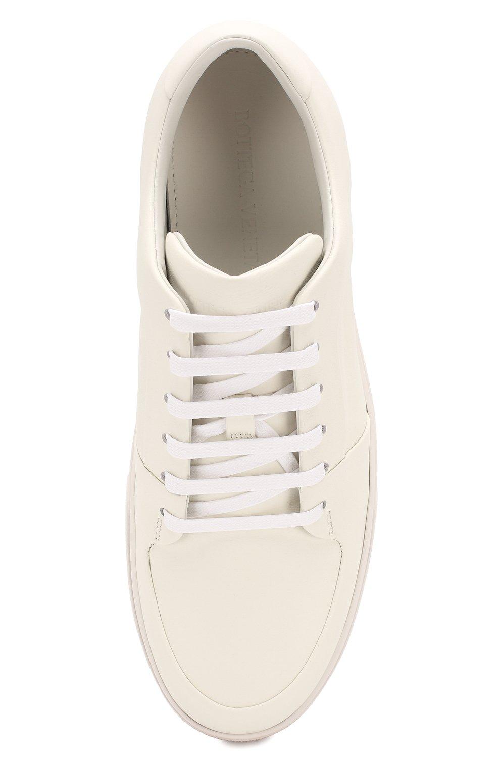Мужские кожаные кеды BOTTEGA VENETA белого цвета, арт. 608761/VT040 | Фото 5 (Материал внутренний: Натуральная кожа; Подошва: Массивная)