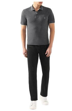 Мужское хлопковое поло BRUNELLO CUCINELLI темно-серого цвета, арт. M0T639779G | Фото 2
