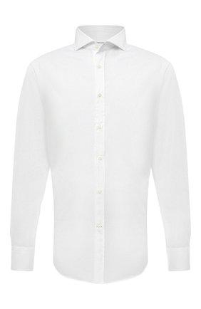 Мужская хлопковая сорочка BRUNELLO CUCINELLI белого цвета, арт. M0UC40028 | Фото 1