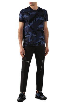 Мужская хлопковая футболка VALENTINO темно-синего цвета, арт. TV3MG00W3M0 | Фото 2