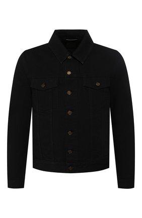 Мужская хлопковая куртка SAINT LAURENT черного цвета, арт. 527407/YF899 | Фото 1