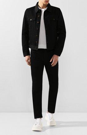 Мужская хлопковая куртка SAINT LAURENT черного цвета, арт. 527407/YF899 | Фото 2