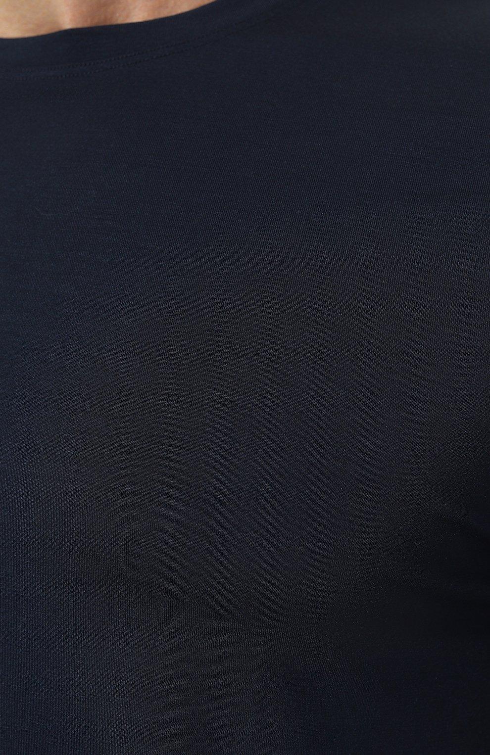 Мужская футболка DEREK ROSE синего цвета, арт. 3048-BASE001   Фото 5 (Кросс-КТ: домашняя одежда; Рукава: Короткие; Материал внешний: Синтетический материал; Длина (для топов): Стандартные; Мужское Кросс-КТ: Футболка-белье)
