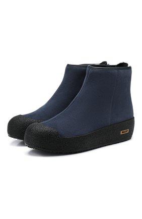 Женские замшевые ботинки guard ii BALLY синего цвета, арт. GUARD II L/146 | Фото 1