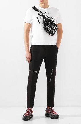 Мужская текстильная поясная сумка millennials star DOLCE & GABBANA черного цвета, арт. BM1760/AJ610 | Фото 2