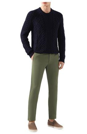 Мужские хлопковые брюки POLO RALPH LAUREN хаки цвета, арт. 710644988   Фото 2
