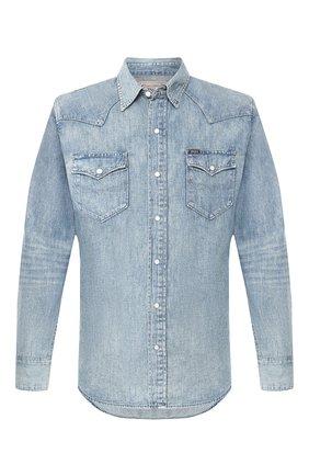 Мужская джинсовая рубашка POLO RALPH LAUREN синего цвета, арт. 710703936 | Фото 1