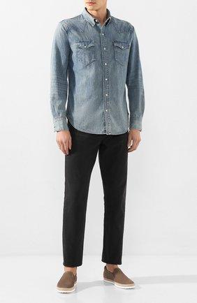 Мужская джинсовая рубашка POLO RALPH LAUREN синего цвета, арт. 710703936 | Фото 2