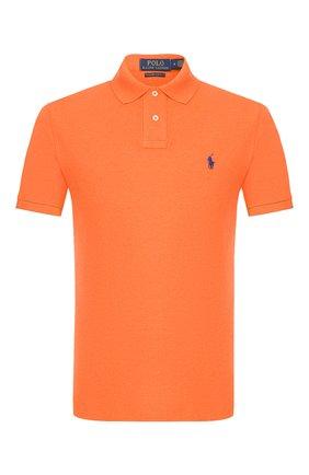 Мужское хлопковое поло POLO RALPH LAUREN оранжевого цвета, арт. 710680784 | Фото 1
