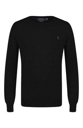 Мужской хлопковый джемпер POLO RALPH LAUREN черного цвета, арт. 710684957 | Фото 1