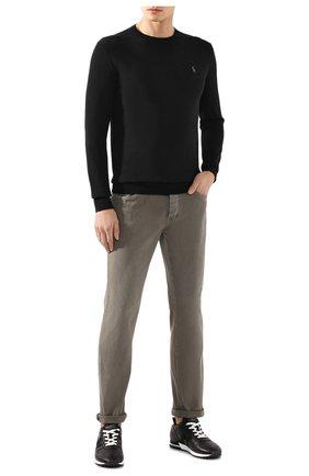 Мужской хлопковый джемпер POLO RALPH LAUREN черного цвета, арт. 710684957 | Фото 2