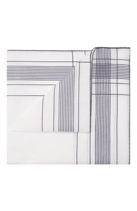 Мужской хлопковый платок SIMONNOT-GODARD белого цвета, арт. HARLAN | Фото 1