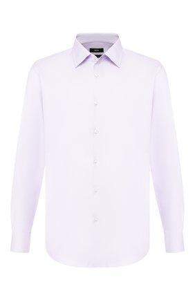 Мужская хлопковая сорочка BOSS сиреневого цвета, арт. 50422094 | Фото 1