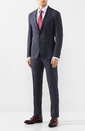 Мужская хлопковая сорочка BOSS сиреневого цвета, арт. 50422094 | Фото 2