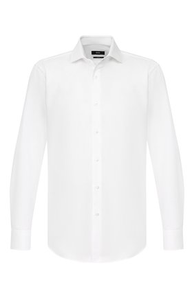 Мужская хлопковая сорочка BOSS белого цвета, арт. 50422190 | Фото 1