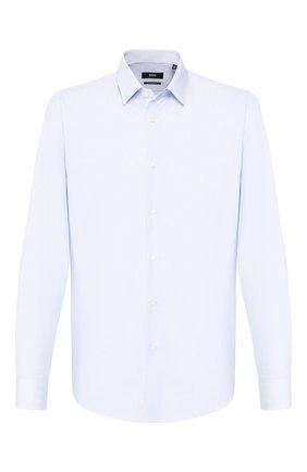 Мужская хлопковая сорочка BOSS голубого цвета, арт. 50422039 | Фото 1