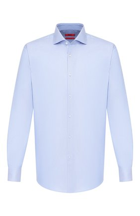 Мужская хлопковая сорочка HUGO голубого цвета, арт. 50420871 | Фото 1