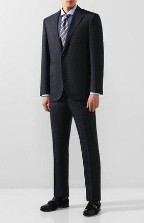 Мужская хлопковая сорочка HUGO голубого цвета, арт. 50420871 | Фото 2