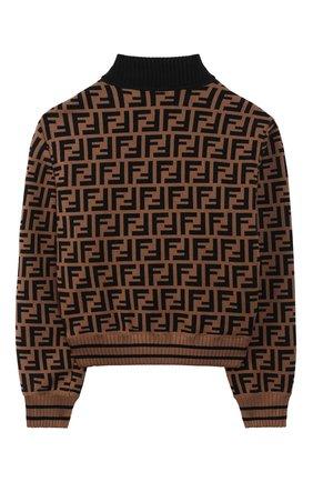 Детская куртка с меховой отделкой FENDI коричневого цвета, арт. JFA106/A1QI/10A-12+ | Фото 2