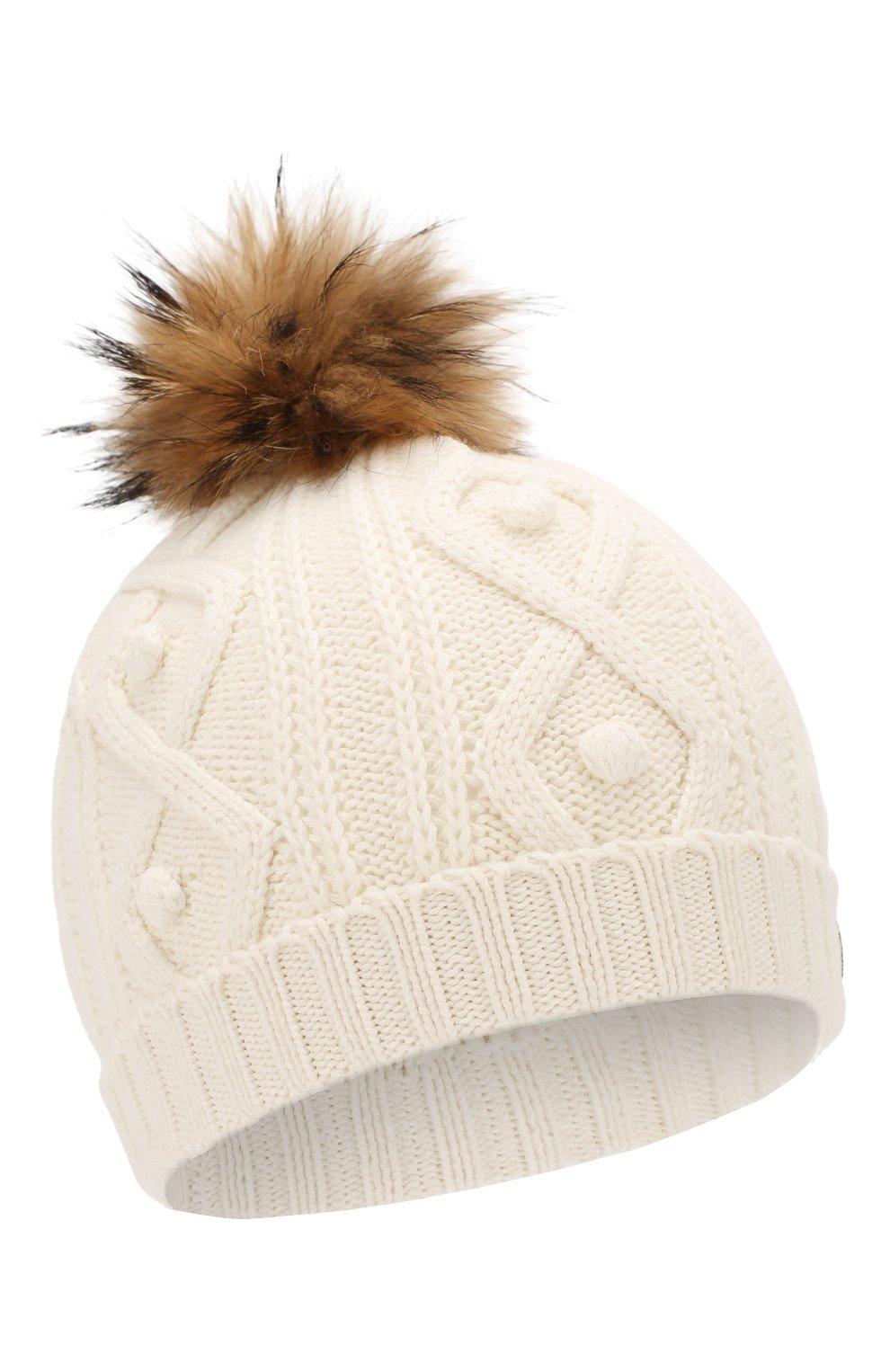 Детского шапка из хлопка и шерсти TARTINE ET CHOCOLAT белого цвета, арт. TP90032   Фото 1