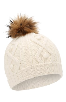 Детского шапка из хлопка и шерсти TARTINE ET CHOCOLAT белого цвета, арт. TP90032 | Фото 1