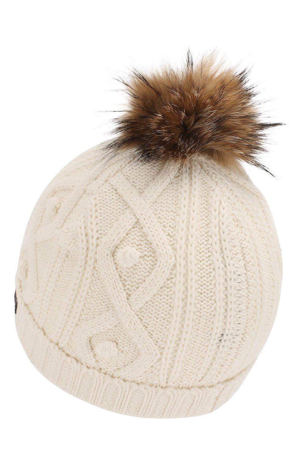 Детского шапка из хлопка и шерсти TARTINE ET CHOCOLAT белого цвета, арт. TP90032   Фото 2