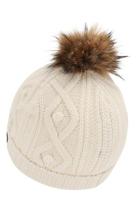 Детского шапка из хлопка и шерсти TARTINE ET CHOCOLAT белого цвета, арт. TP90032 | Фото 2